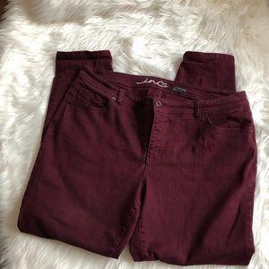 Inc Concepts Maroon Skinny Pants-18w